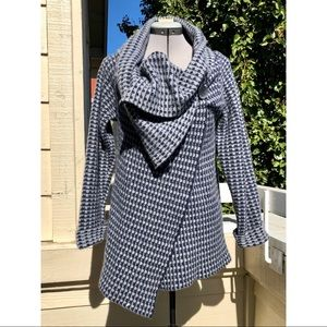 a. ida Sweaters - A. IDA Wrap Drape Cardigan Sweater Wool Blend